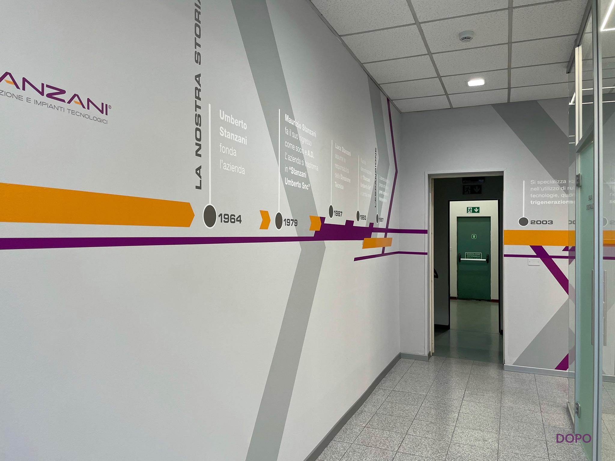 Stanzani foto corridoio ingresso della sede dopo i lavori