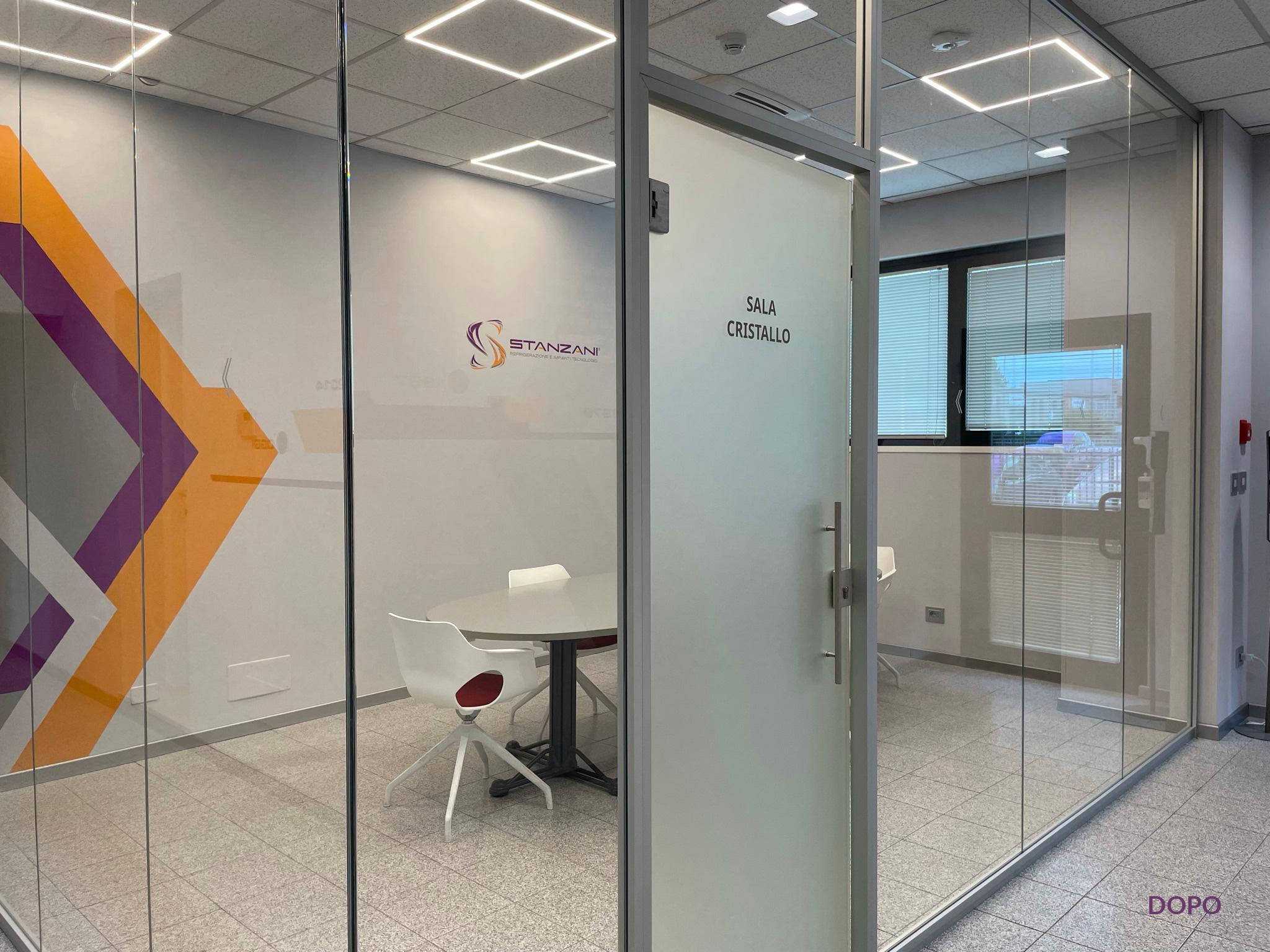 Stanzani foto sala all'ingresso della sede dopo i lavori